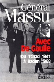Cover of: Avec De Gaulle