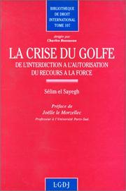 Cover of: La crise du Golfe