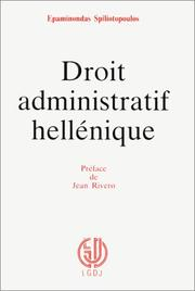 Cover of: Droit administratif hellénique