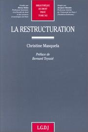 Cover of: La restructuration