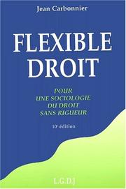 Flexible droit by Jean Carbonnier