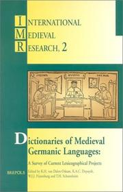 Cover of: Dictionaries of medieval Germanic languages