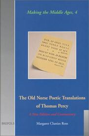 Cover of: The Old Norse Poetic Translations of Thomas Percy | Thomas Percy