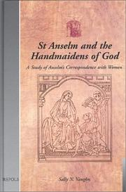 Cover of: St. Anselm and the Handmaidens of God | Sally N. Vaughn