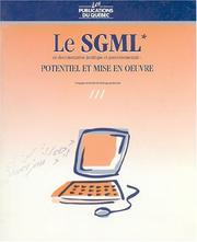 Cover of: Le SGML en documentation juridique et gouvernementale