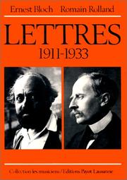 Cover of: Lettres, 1911-1933