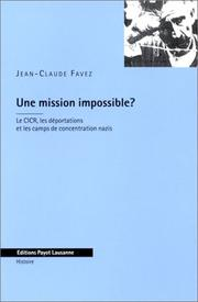 Cover of: Une mission impossible?