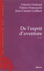 Cover of: De l'esprit d'aventure