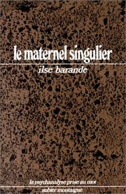 Cover of: Le Maternel singulier