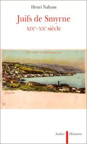 Cover of: Juifs de Smyrne