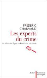 Cover of: Les experts du crime