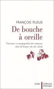Cover of: De bouche à oreille