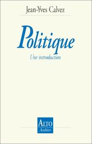 Cover of: Politique