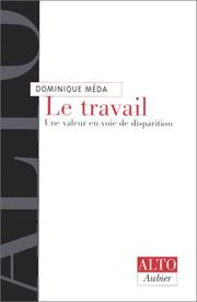 Cover of: Le travail