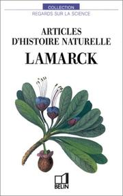 Cover of: Articles d'histoire naturelle