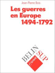 Cover of: Les guerres en Europe, 1494-1792