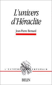 Cover of: L' univers d'Héraclite