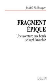Cover of: Fragment épique