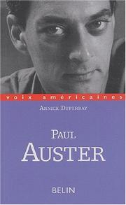 Cover of: Paul Auster