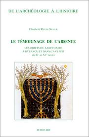 Cover of: Le témoignage de l'absence