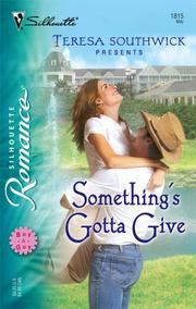 Cover of: Something's Gotta Give