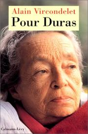 Cover of: Pour Duras