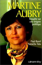Martine Aubry by Paul Burel
