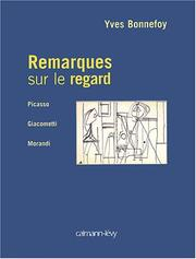 Cover of: Remarques sur le regard