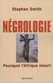 Cover of: Négrologie