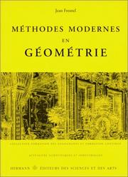 Cover of: Méthodes modernes en géométrie
