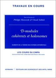 Cover of: D-modules cohérents et holonomes |