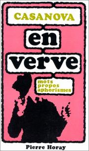 Cover of: Casanova en verve