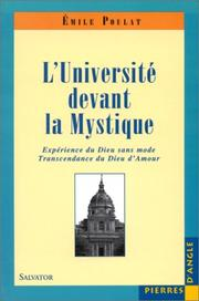 Cover of: L' université devant la mystique