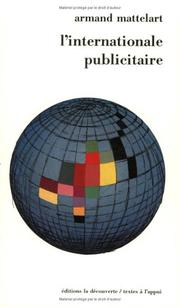 Cover of: L' internationale publicitaire