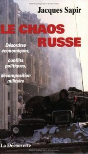 Cover of: Le chaos russe