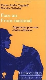 Cover of: Face au Front national