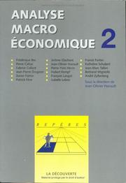 Cover of: Analyse macroéconomique, tome 2