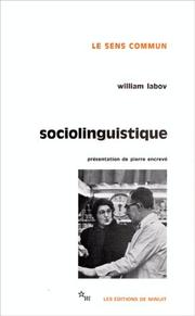 Cover of: Sociolinguistic patterns