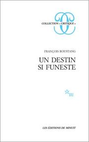 Cover of: Un destin si funeste
