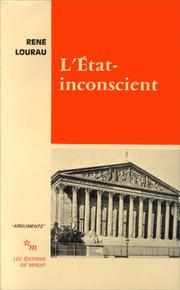 Cover of: L' État inconscient