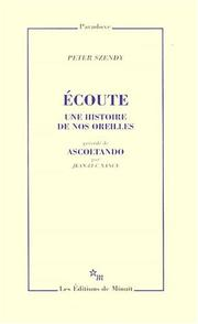 Cover of: Ecoute