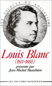 Cover of: Louis Blanc, 1811-1882