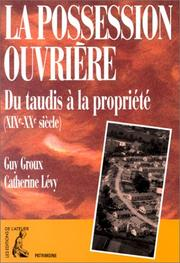 Cover of: La possession ouvrière