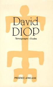 Cover of: David Diop
