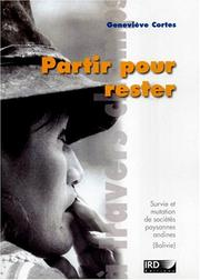 Cover of: Partir pour rester