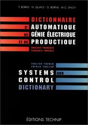 Cover of: Systems And Control Dictionary English-french French-english | Pierre Borne