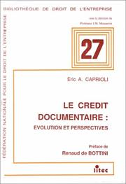 Cover of: Le crédit documentaire