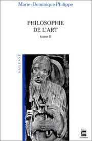 Cover of: Philosophie de l'art