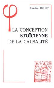 Cover of: La conception stoïcienne de la causalité