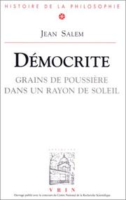 Cover of: Démocrite